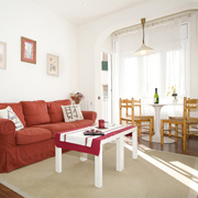 In barcelona budget accomodation. In Gracia area. Ideal for families