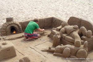 barceloneta-beach-sand-sculpture