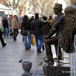 ramblas-statue-ange-noir
