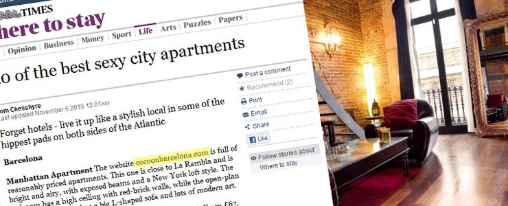 THE TIMES (UK): Where to stay – Nov 6th, 2010