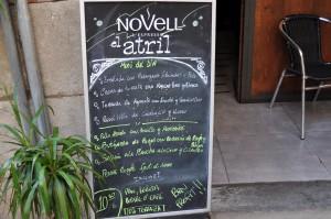 atril menu