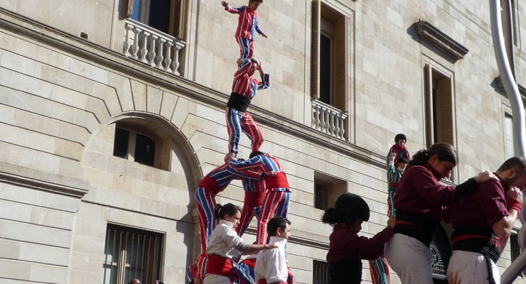 A nice catalan tradition: the castellers (Barcelona Human Castles)
